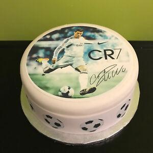 Cristiano Ronaldo CR7 04 pre-cut Edible Icing Cake Topper or Ribbon