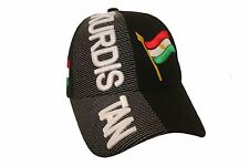 KURDISTAN BLACK COUNTRY FLAG EMBOSSED HAT CAP .. NEW