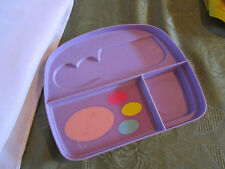 Fisher Price Fun with Food dress up vanity tray insert purple purse dresser make
