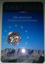 ANDORRA - 8 x 2 Euro comm. FDC in blister (giro completo 2014/2018)
