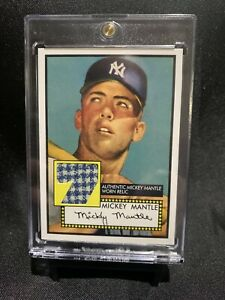 2006 Topps Mickey Mantle Rookie Reprint Relic Card - Mint