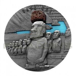 Cameroon 2020 2000 Francs Lava Resin Rapa Nui 2oz