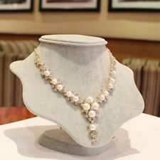 Style Girl Jewelry For Gift Collar Pendants Y Necklaces Women Simulated-Pearls
