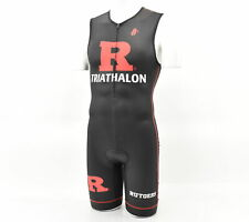 Rutgers Triathlon Men's Medium Hincapie Sleeveless Tri Suit Black/Red MISPRINT