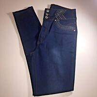 Danesi Women's Jeans size 15 US dark blue 5 pockets stretch brand new # 7082  3
