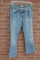 "Womens BKE CAPRI Star Size  28' x 25"" Distressed Light Blue Jeans"