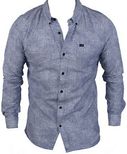 New Lee Mens Button Up Casual Shirt in Blue Colour Size S