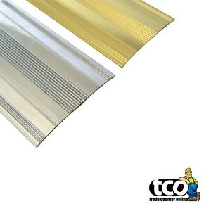 High Quality Extra Wide Metal Door Trims Carpet Cover Strips Gold / Silver