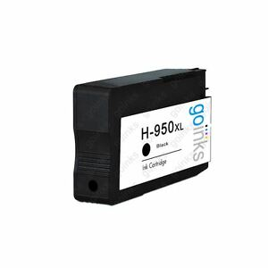 1 Black Ink Cartridge to replace HP 950Bk (HP950XL) non-OEM / Compatible