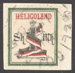 Helgoland Mi. Nr. 19Aa gest. auf LUXUS Briefstück  - geprüft Grobe