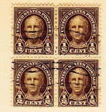 USA 653 Block of 4  Nathan Hale 1/2¢