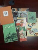 Lot of 6 Vintage Retro Cooking Pamphlets Booklets VG