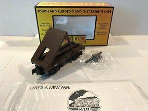 **NEW IN BOX** MTH RAIL KING TRAINS -W.A.R.R. FLATCAR W/CANNON- O-SCALE 30-7635