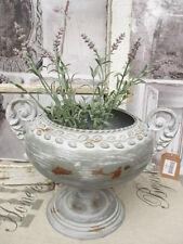Blumentopf Metall Amphore Vase Metall Patina Shabby Vintage Landhaus Deko rund