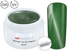 UV LED Effekt Gel Cat Eye Magnet GREEN Glitzer Farb Color Magic Nail Lack Grün