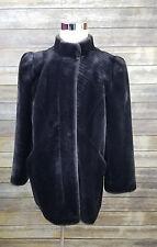Sasson Glenoit Faux Fur Coat Jacket Vintage 1980s New York Paris Size 18