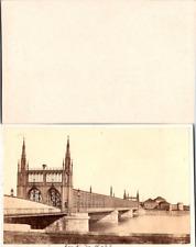 Strasbourg, Pont de Kehl sur le Rhin Vintage CDV albumen carte de visite  CDV,