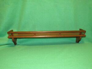 Vintage Wood Wall Hanging Spindle Rail Plate Groove Knick Knack Shelf Display