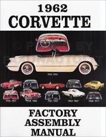 1962 Corvette Factory Assembly Manual Bound Book Chevrolet Chevy Views of Parts