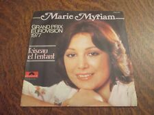 45 tours MARIE MYRIAM grand prix eurovision 1977 l'oiseau et l'enfant