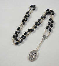 St. Anthony St. Francis Asisi Rosary Chaplets BLACK LOT of 5 Rosary Chaplets