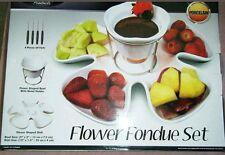 FineLife Porcelain Flower Fondue Set   ***#3610**