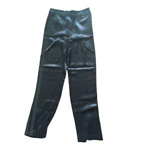 M&S, Autograph, Womens Black Silk Trousers