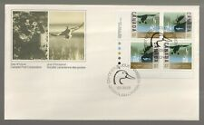 1988 Canada Wildlife and Habitat Conservation Plate Block FDC. First day Cover