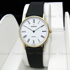 Men's Movado MUSEUM CLASSIC 14K Solid Yellow Gold White Dial Swiss Watch