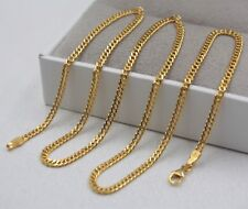 Curb Link Chain Necklace 18cm Length New 18K Yellow Gold Necklace 2.5mm