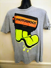 Adidas Mens T-Shirt Photoshoot Film Graphic Design Grey Go To Tee Size Large