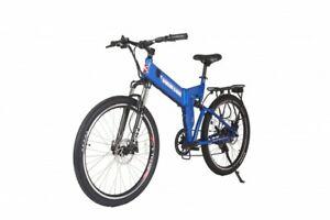 X-Treme 24 Volt X-Cursion ELITE Folding Electric Bike  Lithium Powered (Blue)