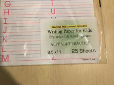 Writing Paper for Kids - ALPHABET PRACTICE  - 11X 8.5 in, 20 lb, 25 sheets