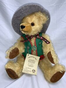 "Hermann 16"" Gold Mohair Teddy Bear Growler Oktoberfest 1995 Numbered Steiff Mint"