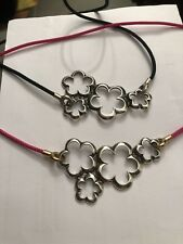 ONE Genuine Sterling Silver X BY TROLLBEADS FLOWER CLOUD & ASIAN CORD.New Code 3