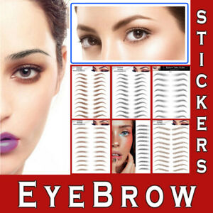 3D Eyebrows Tattoo Realistic Look Sticker Transfer Waterproof Stick On Make up