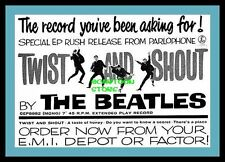 "THE BEATLES TWIST AND SHOUT EP AD - MINI-POSTER PRINT 7"" x 5"""