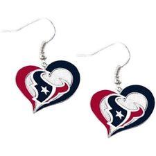 Houston TEXANS Swirl Heart Dangle Earrings