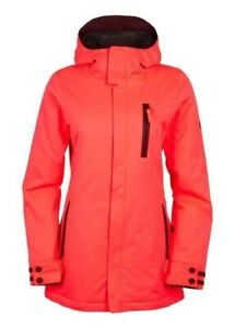 686 Authentic Eden Insulated Women's Snowboard Jacket Electric Poppy Size Small
