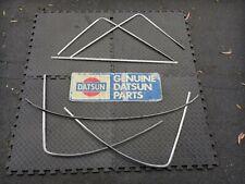 Datsun 70-78 240Z 260Z 280Z Coupe Windshield & Hatch Steel Trim ( 6 Pc. Large)