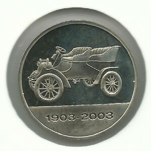 Model A 1903 on a alpaca medal issued for Ford Motor Company 100 years 1903-2003