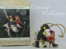 1995 Hallmark Learning to Skate Penguin Ornament Folk Art Americana Collection