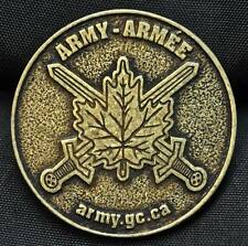 Canada Army Promotional Medallion, 36 mm