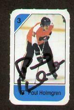 Paul Holmgren signed autograph auto 1982-83 Post Cereal NHL Hockey Card