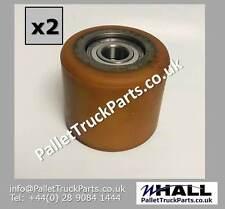 X2no. bt rolatruc-D85 x W75mm p/u-acier transpalette charge rouleaux/roues