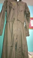 Flyers Nomex Sage Green 27P FR Genuine Military Issue 40R Flight Suit 1977