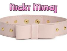 Nicki Minaj X H&M Pink Faux Leather Choker With Bow Stud Accent Hip Hop Style