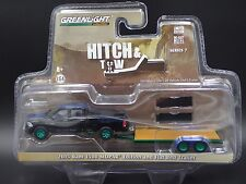 GREENLIGHT HITCH & TOW 7 GREEN MACHINE 2015 RAM 1500 MOPAR ED & FLAT BED TRAILER
