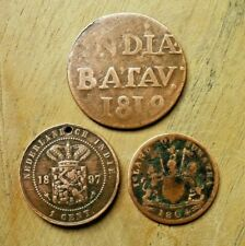 3 pieces monnaie Indes neerlandaises 1819 1897 et Sumatra 1804