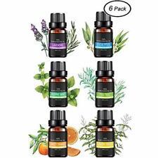 Lot de 6 Huiles Essentielles 100% Pures et Naturelles Aromathérapie 10ML Lavande